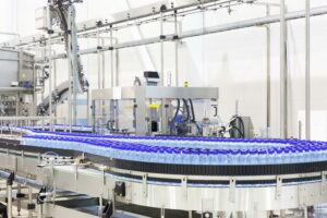 Ozone treatment in bottled water production