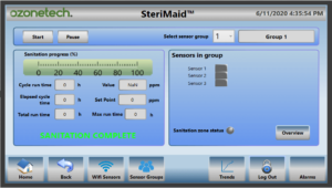 Interface touch panel Sterimaid