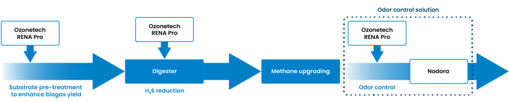 An overview of possible ozone applications in the biogas production process