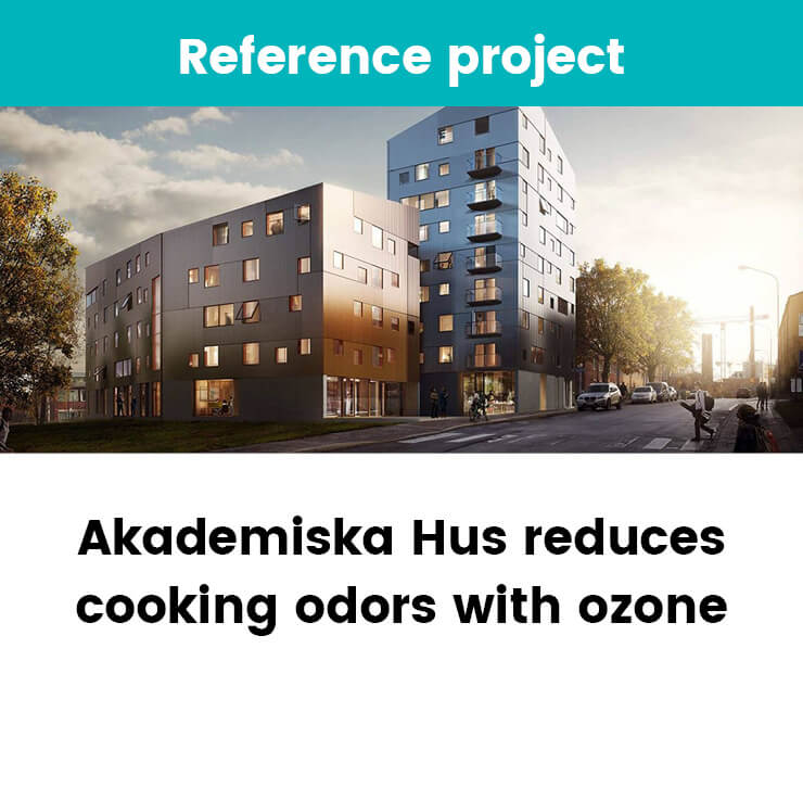 Adademiska Hus reduces cooking odors with ozone