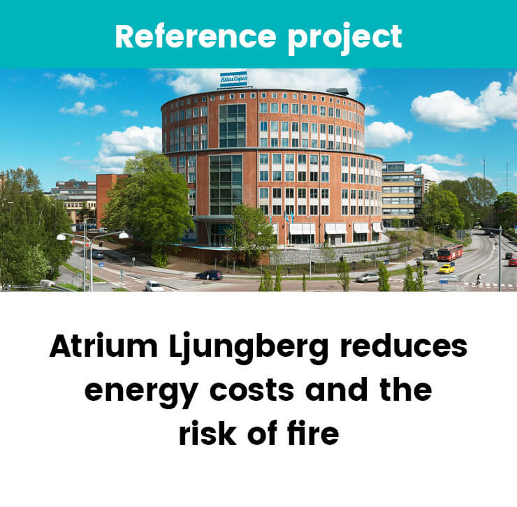 Atrium Ljungberg reduces energy costs