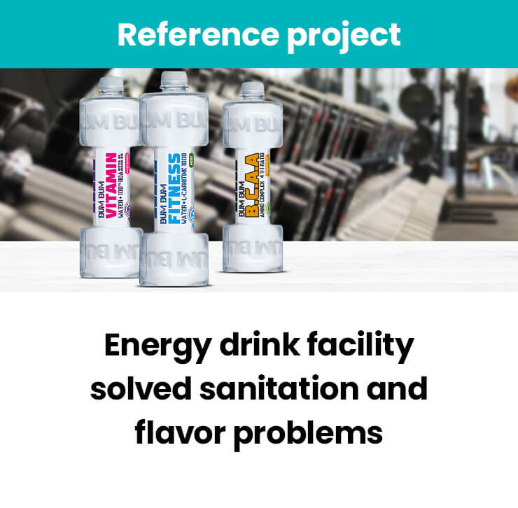 Energy drink facility solved sanitation problems