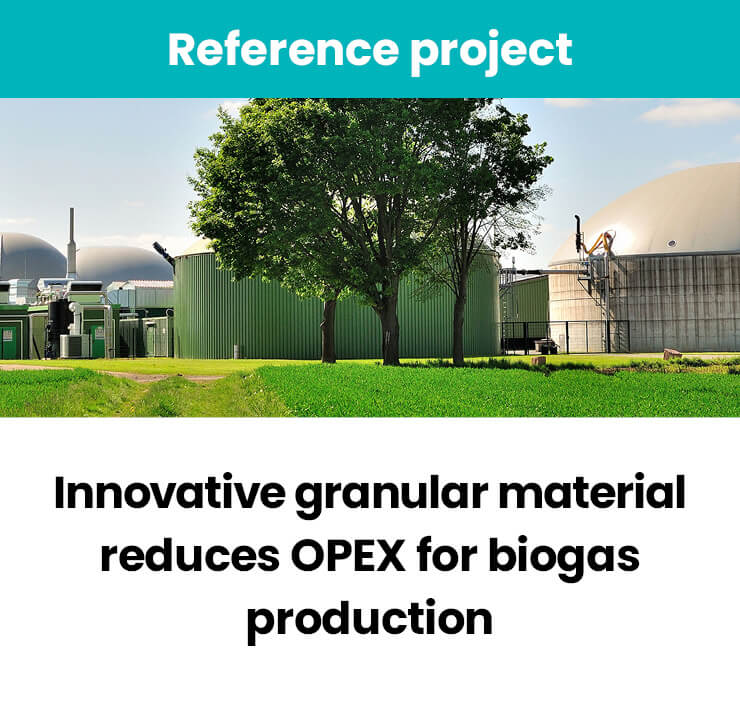 Innovative granular material reduces OPEX
