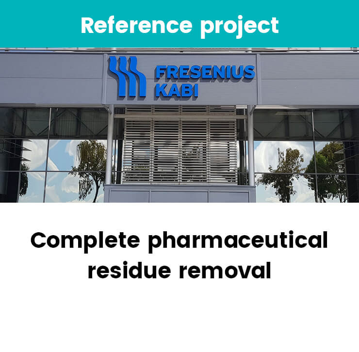 Complete pharmaceutical removal
