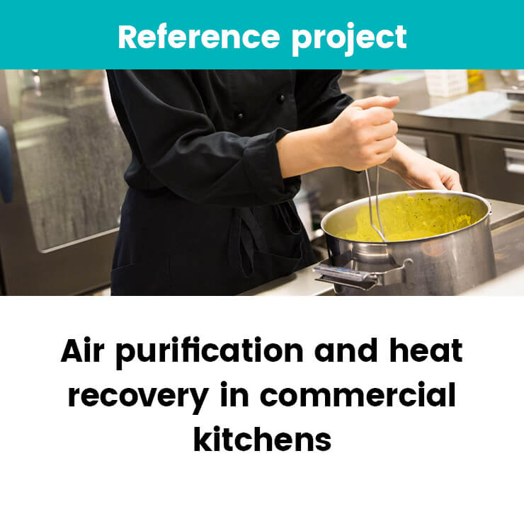 Heat recovery in commercial kitchens