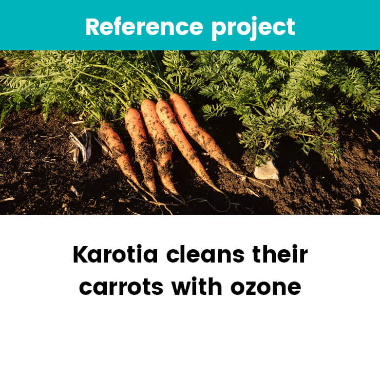 Karotia cleans their carrots with ozone