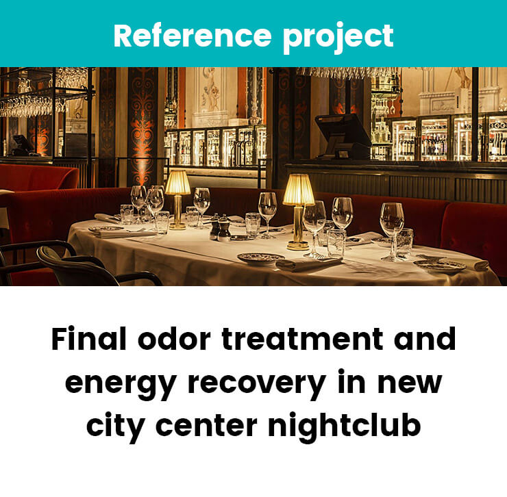 Odor treatment and energy recovery at L'Avventura
