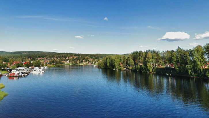 Leksand landscape picture from above