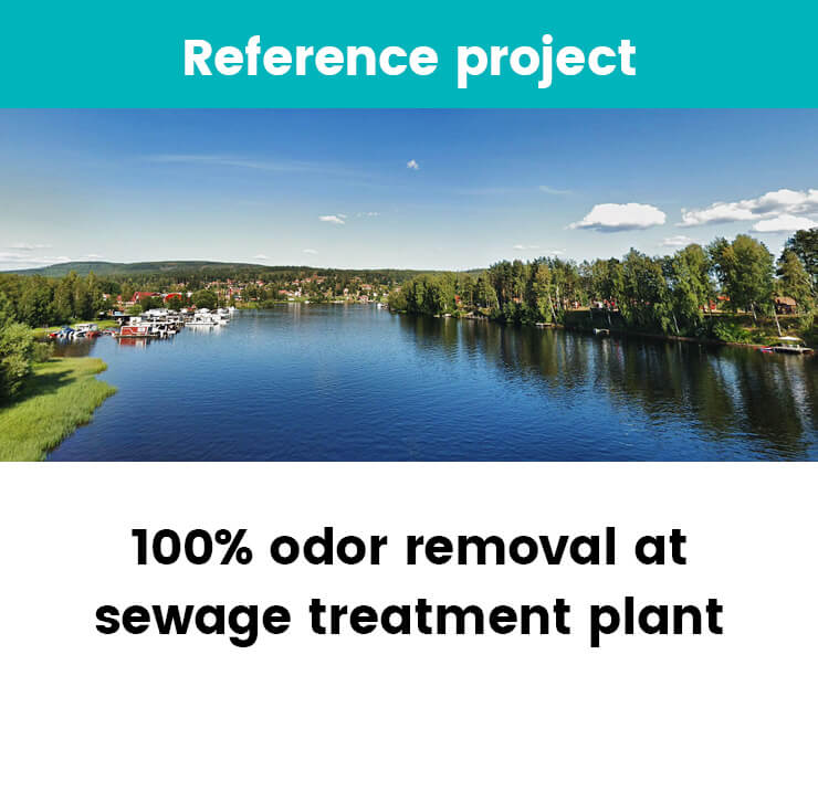 Odor removal at sewage treatment plant