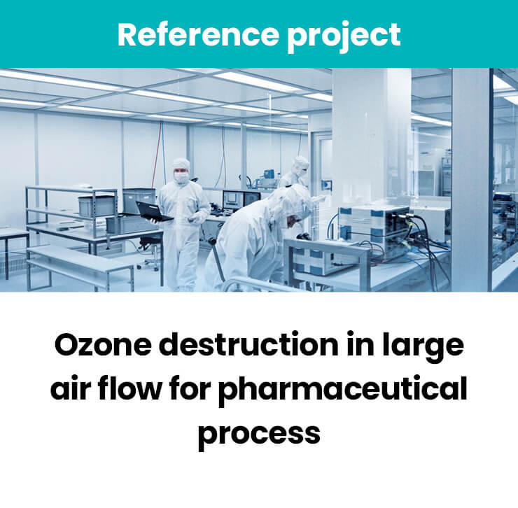 Ozone destruction for pharmaceutical process