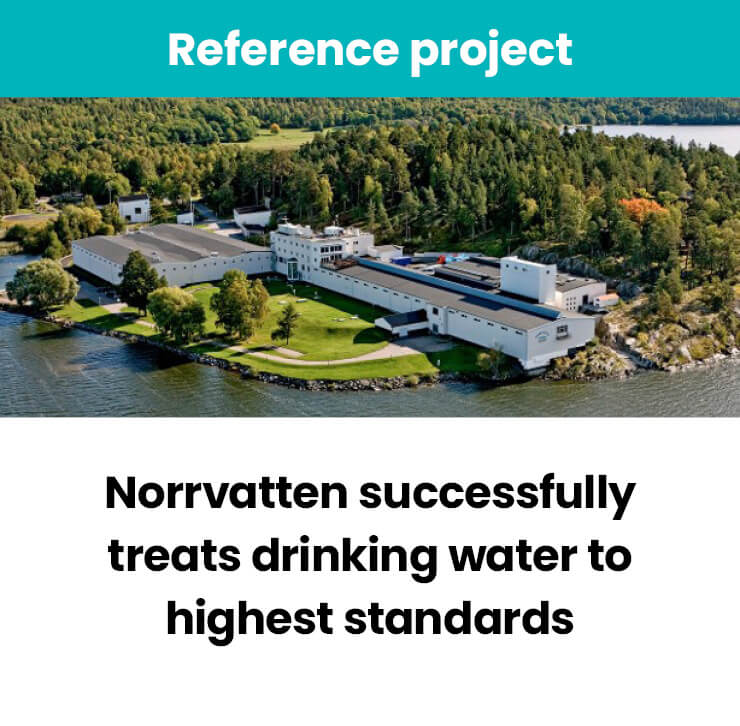 Norrvatten treats drinking water with ozone system