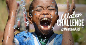 Happy boy wateraid which ozonetech donated to