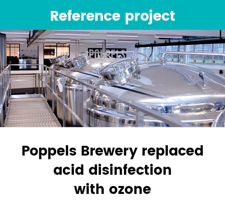 Poppels Brewery replaced acid disinfection with ozone