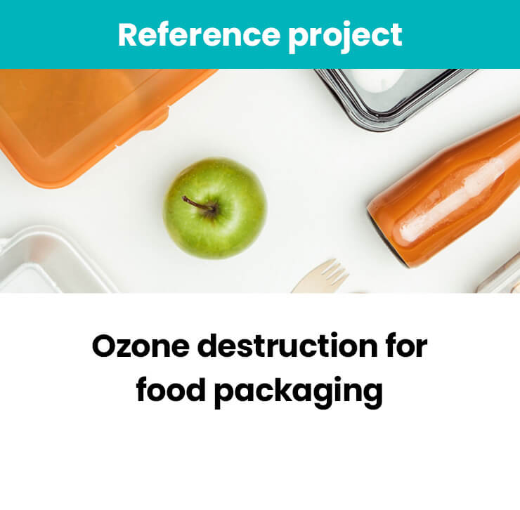 Ozone destruction for food packaging