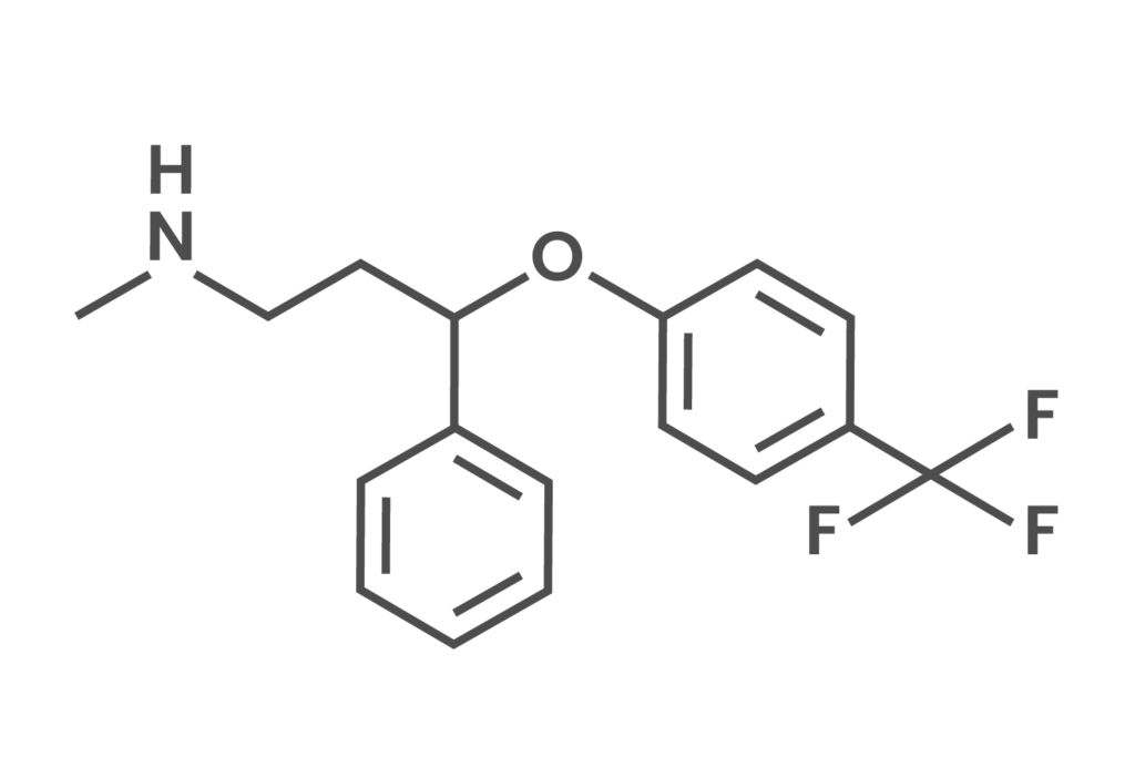 Skeletal formula of prozac