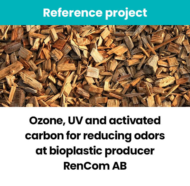 Ozone, UV and activated carbon reduces odors