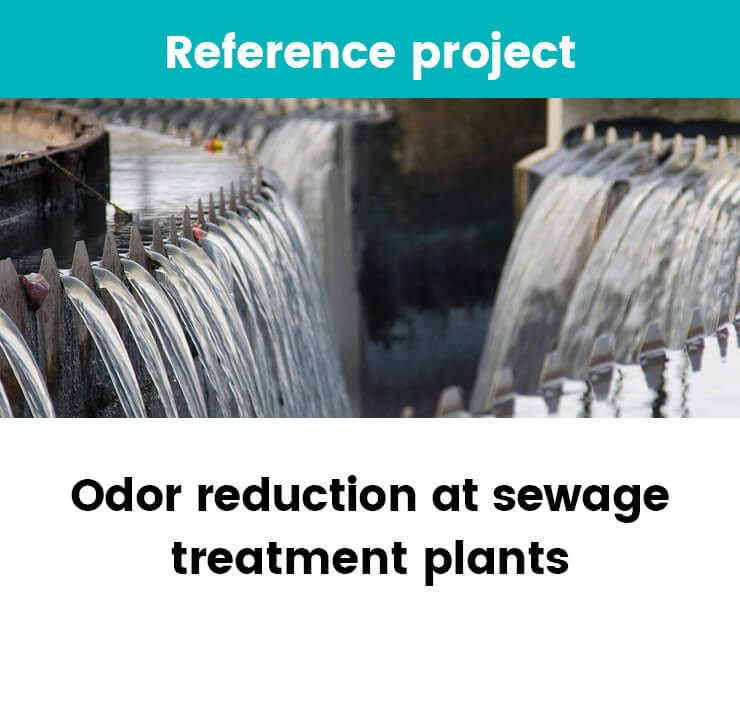 Odor reduction at sewage treatment plants