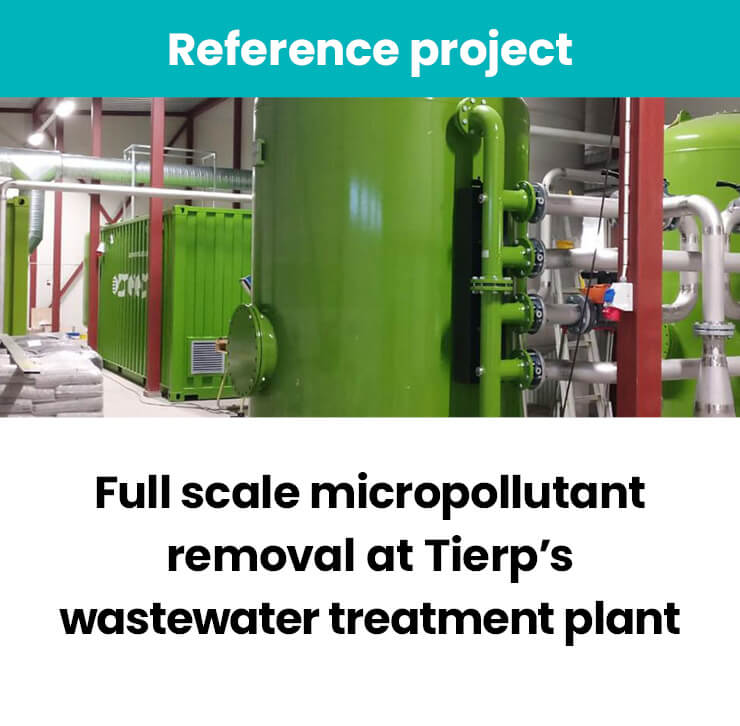 Full scale micropollutant removal plant