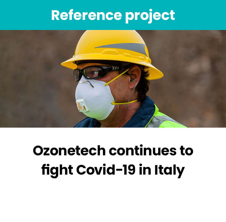 Ozonetech fights Covid-19 in Italy